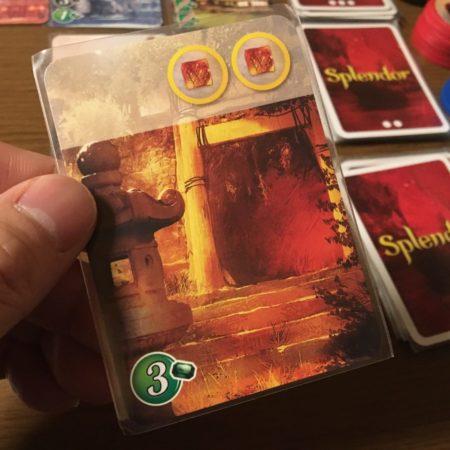 宝石の煌めき拡張「東洋カードレベル1」黄金トークン写真画像