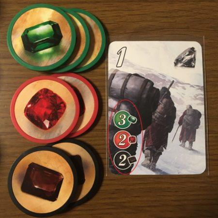 カードのコストを示す写真画像。
