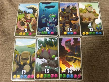 クリスタル+1点の勝利点カードの写真画像