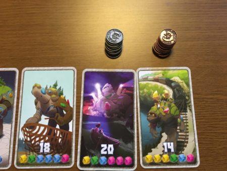 勝利点カードと銅貨・銀貨