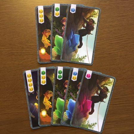 8枚のクリスタルカードの写真画像