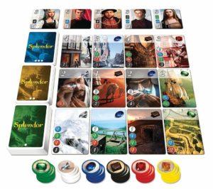 ボードゲーム「宝石の煌き」のコンポーネント写真画像