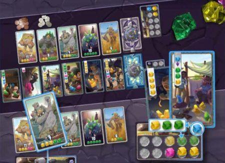 ボードゲーム「センチュリーゴーレム」のコンポーネントの写真画像