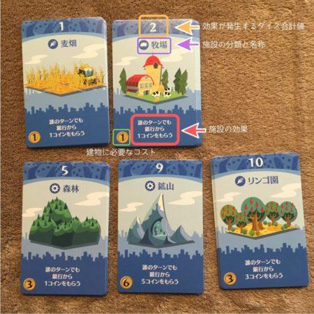 第一次産業カード5枚(青色)