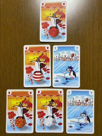 ペンギンパーティーのカードの並べ方